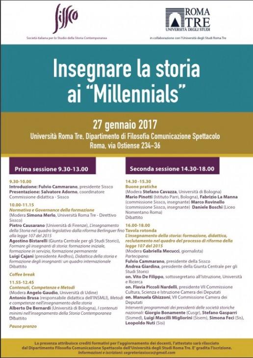 Locandina Convegno Sissco 27/01/2017