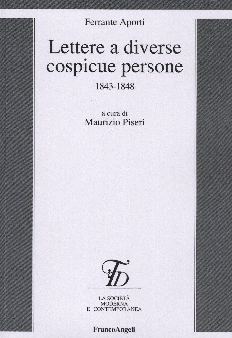 Copertina libro Aporti Lettere diverse a cospicue persone