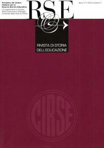 Copertina Rivista di Storia dell'Educazione 2 / 2014