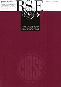 Copertina Rivista Storia Educazione 1/2015
