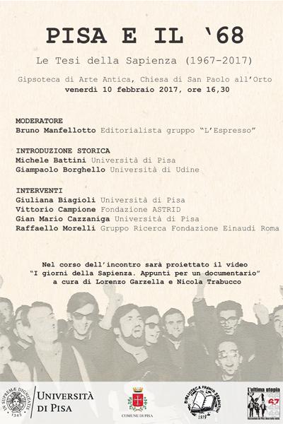 Volantino Pisa e il'68