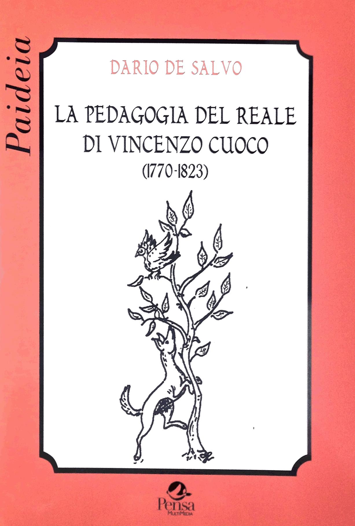 Copertina libro Vincenzo Cuoco: La Pedagogia del reale, ed. Pensa Multimedia, collana Paideia